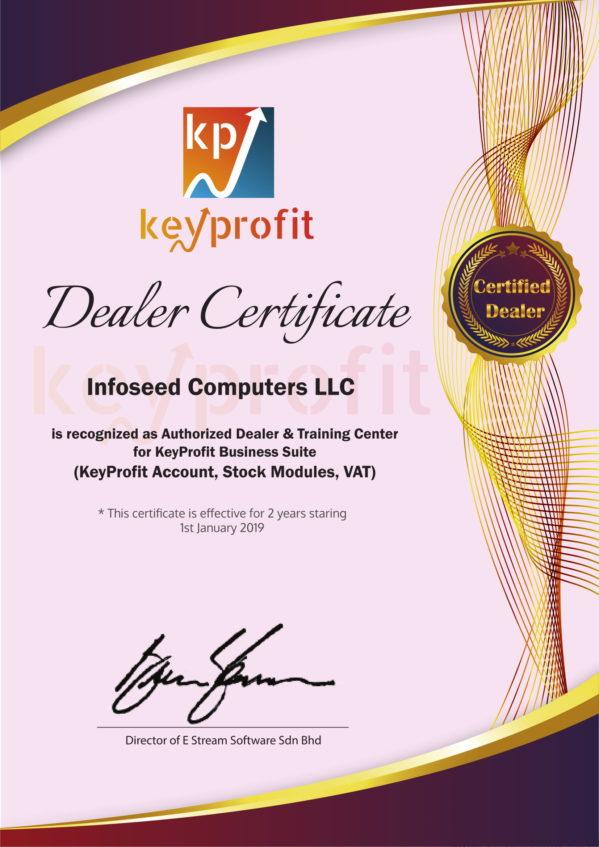 KeyProfit Software Dealer Certified Provider