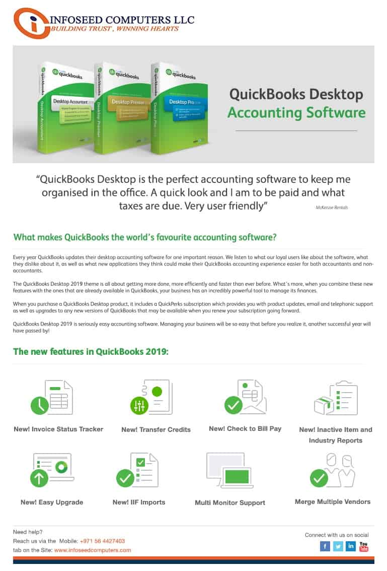 QUICKBOOKS VAT Software Dubai UAE (35% Off) Dealer Provider